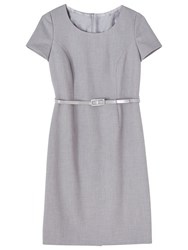 Precis Petite Eliza Tailored Dress Light Grey
