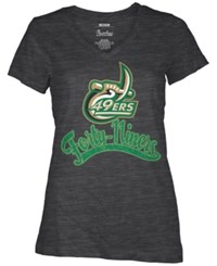 Royce Apparel Inc Women's Charlotte 49Ers Sim Glitter T Shirt Black