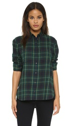 Madewell Oversized Relaxed Button Down Blackwatch
