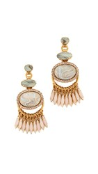Elizabeth Cole Charlotte Earrings Blush