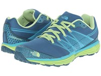 The North Face Litewave Tr Blue Coral Budding Green Women's Running Shoes