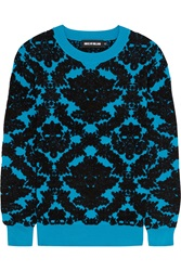 House Of Holland Flocked Stretch Knit Sweater