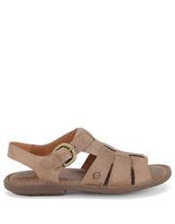 Born Shoe Chamberlain Leather Open Toe Sandals Taupe
