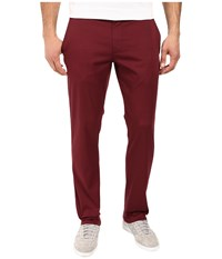 Rvca The Week End Stretch Pants Tawny Port Men's Casual Pants Red