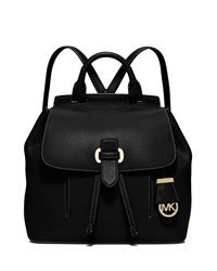 Michael Michael Kors Romey Medium Leather Backpack Black