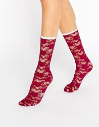 Gipsy Lace Socks Berry Red