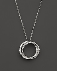 Bloomingdale's Diamond Circle Pendant Necklace In 14K White Gold .30 Ct. T.W