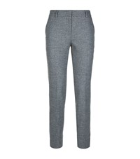Peserico Slim Leg Flannel Trousers Female Grey