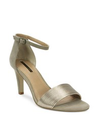 Tahari Novel Ankle Strap Sandals Taupe
