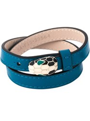 Bulgari 'Serpenti' Wrap Bracelet Blue