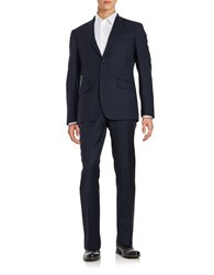 Hardy Amies Two Piece Textured Suit Set Navy