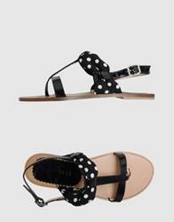 Parentesi Thong Sandals Black