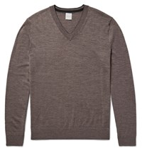Paul Smith Merino Wool Sweater Neutrals