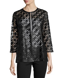 Grayse Lizzy Leather Long Sleeve Jacket Black