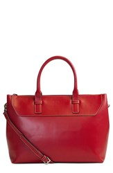 Lodis 'Audrey Wilhelmina' Leather Work Satchel Red
