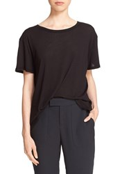 Enza Costa Women's Oversize Pima Cotton Tee Black
