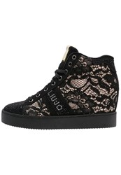 Liu Jo Jeans Hightop Trainers Nero Nude Black