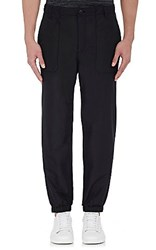 Helmut Lang Men's Tech Poplin Jogger Pants Black Blue Black Blue