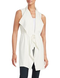 Catherine Malandrino Quindon Draped Open Front Vest White