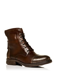 Moda In Pelle Ullage Lace Up Military Style Calf Boots Bronze