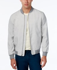 Alfani Men's Lightweight Bomber Jacket Slim Fit Light Grey