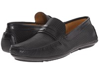 Aquatalia By Marvin K Bruce Black Woven Calf Men's Slip On Shoes