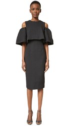 Monique Lhuillier Open Shoulder Dress Noir