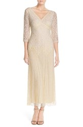 Women's Pisarro Nights Beaded Mesh Drop Waist Dress Ivory