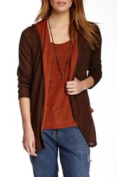 Miraclebody Jeans Robyn Knit Cardigan And Tank Set Brown