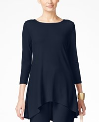 Alfani High Low Jersey Tunic Top Only At Macy's Modern Navy