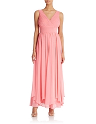 Eliza J Chiffon Fit And Flare Gown
