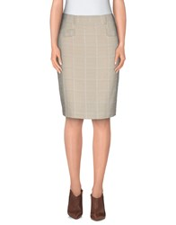 Piazza Sempione Skirts Knee Length Skirts Women Ivory