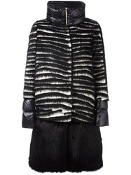 Herno Faux Fur Panel Padded Coat Black