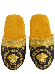 Versace Barocco Printed Cotton Slippers