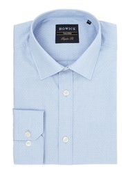 Howick Banner Classic Collar Shirt With Dobby Spot Blue