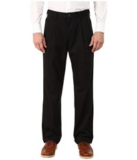 Dockers Comfort Khaki Stretch Relaxed Fit Pleated Black Metal Men's Casual Pants Gray