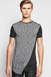 Longline Asymmetric Panel Space T Shirt