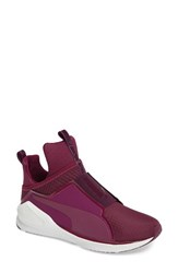 Puma Women's Fierce High Top Sneaker Purple
