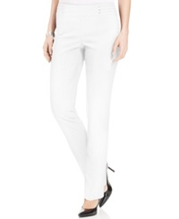 Jm Collection Petite Studded Pull On Pant Bright White