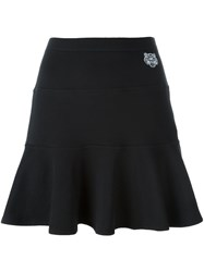 Kenzo 'Mini Tiger' Skater Skirt Black