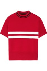 Tim Coppens Striped Merino Wool Sweater Red