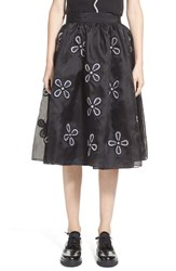 Women's Jupe By Jackie 'Mokolo' Floral Embroidered Silk Organza Skirt