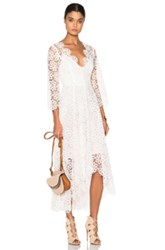 Zimmermann Empire Guipure Dress In White Neutrals
