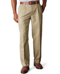 Dockers Big And Tall D3 Classic Fit Easy Refined Pleated Pants New British Khaki