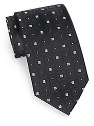 English Laundry Foulard Square Silk Tie Black