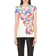 Ted Baker Dyah Jersey Top Pale Yellow