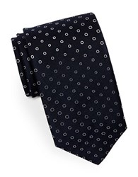 Hugo Dotted Silk Tie Navy