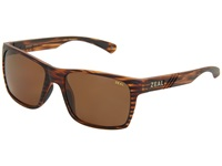 Zeal Optics Brewer Matte Wood Grain W Copper Polarized Lens Sport Sunglasses Brown