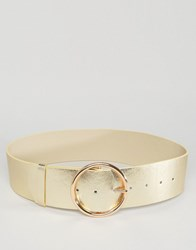 Asos Round Buckle Waist Belt Gold