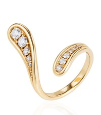 Fernando Jorge Fluid Diamond Curved Ring Female Gold